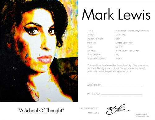 Amy Winehouse - A School Of Thought by Mark Lewis