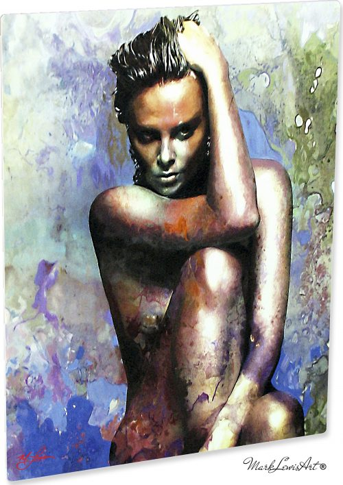 Charlize Theron - Blue Daze 2 by Mark Lewis