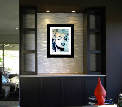 Marilyn Monroe - Blue Marilyn by Mark Lewis