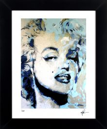 Marilyn Monroe - Blue Marilyn by Mark Lewis
