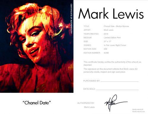 Marilyn Monroe - Chanel Date by Mark Lewis
