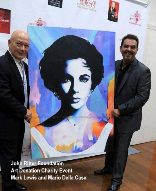 Artist Mark Lewis and Mario Della Casa John Ritter Foundation Charity Event